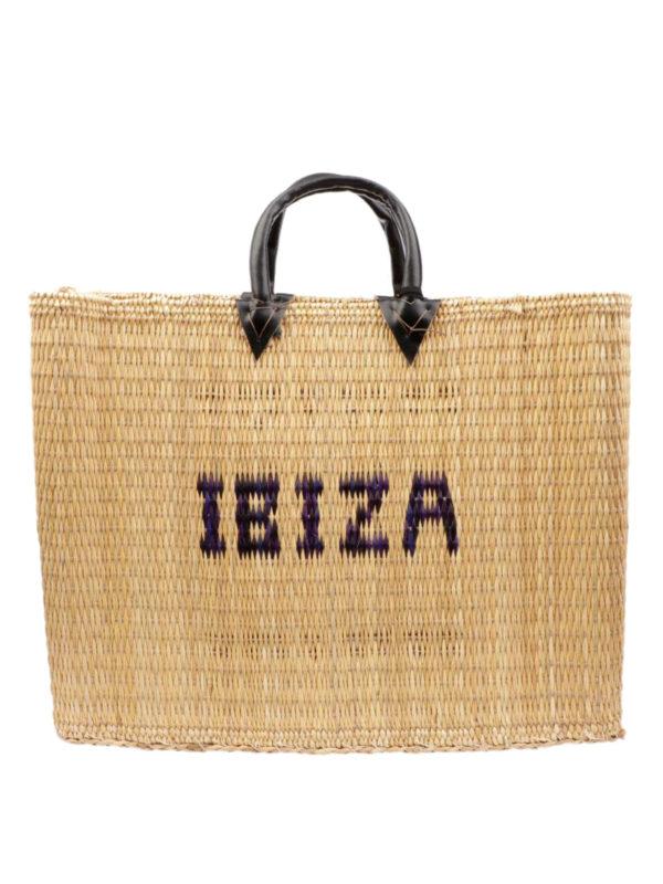 PINK MEMORIES: totes bags - Ibiza large straw tote