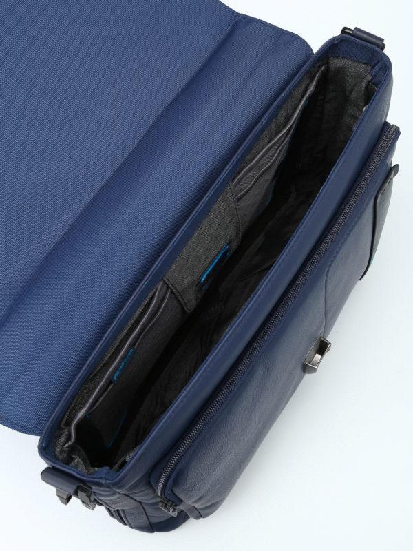 PIQUADRO buy online Blue nappa laptop/ iPad briefcase