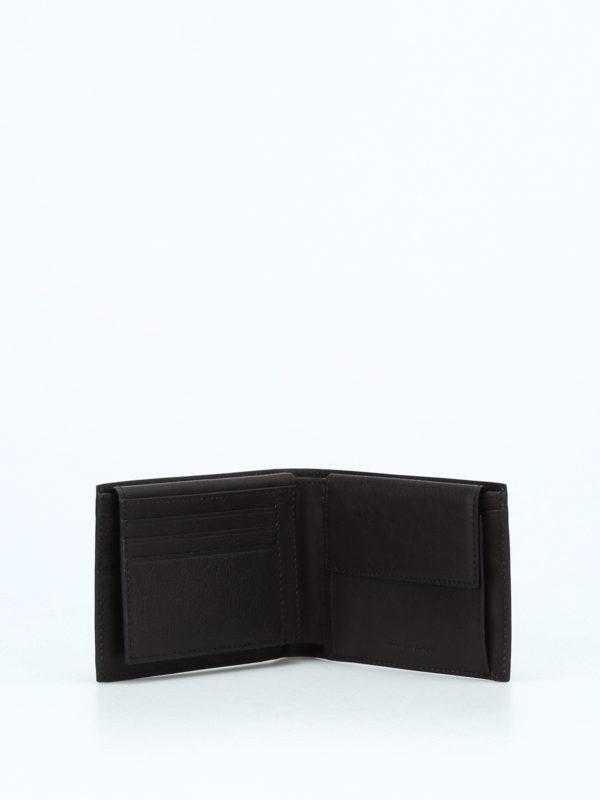 PIQUADRO buy online Brown leather anti-fraud wallet