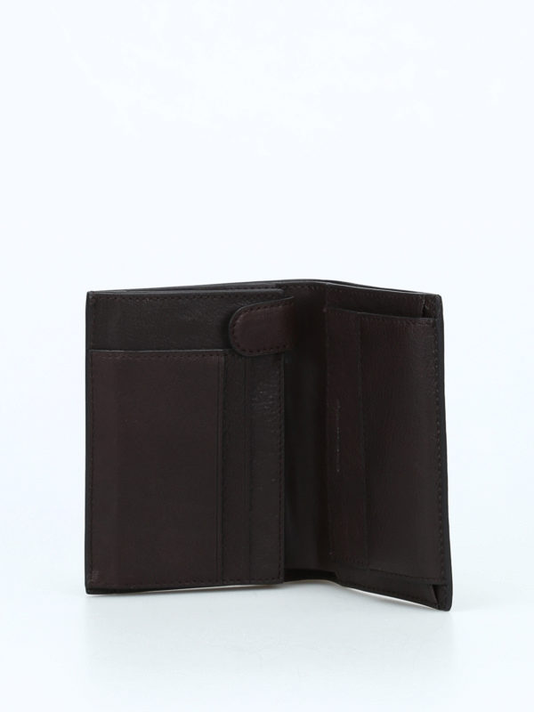 PIQUADRO buy online Document and card brown wallet