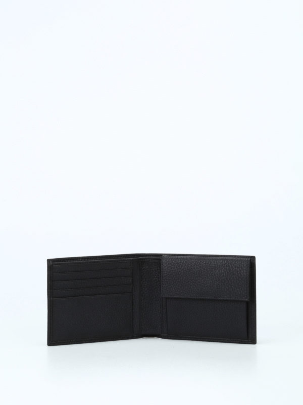 PIQUADRO buy online Grainy leather black wallet
