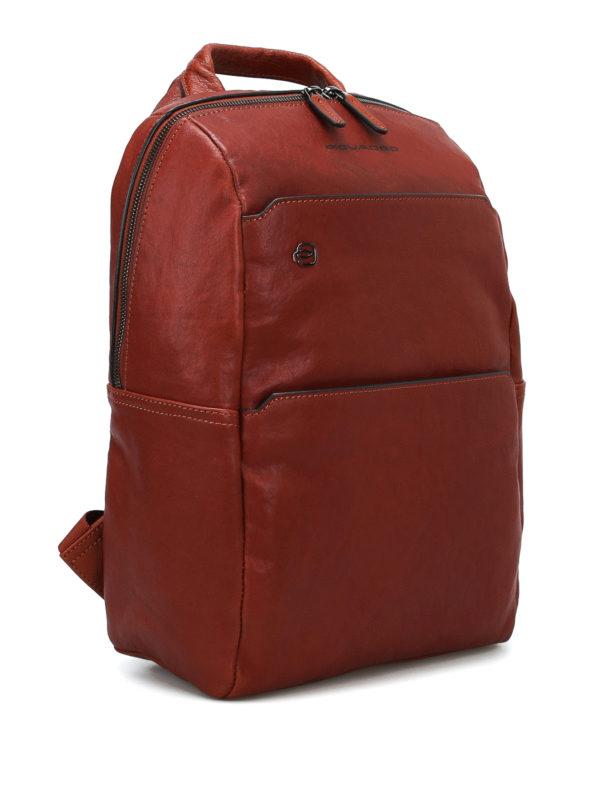 PIQUADRO: backpacks online - Light brown leather backpack
