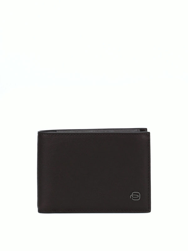 PIQUADRO: wallets & purses - Brown leather anti-fraud wallet