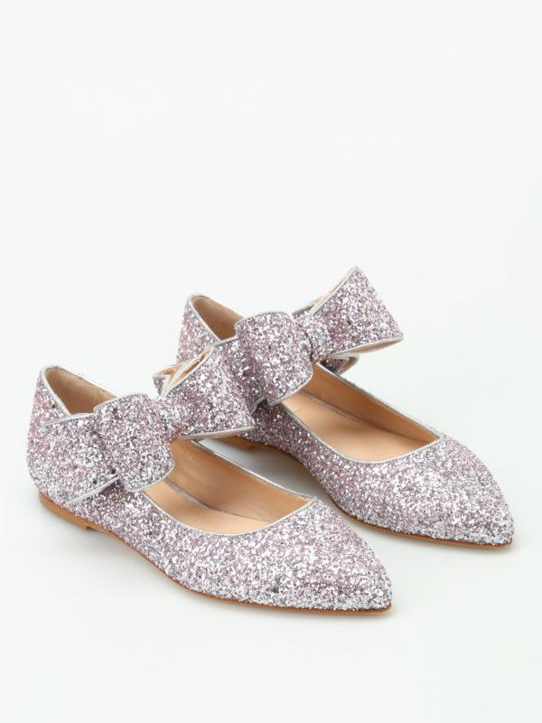 Polly Plume Ballerine Bonnie Bow In Glitter