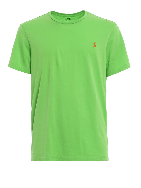 Cotton t shirt with logo by polo ralph lauren t shirts for Cotton polo shirts with logo