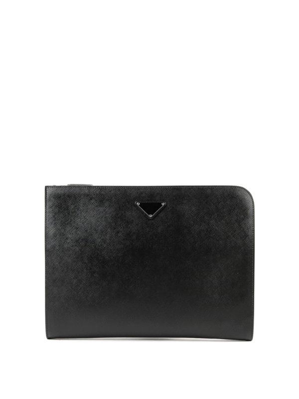 PRADA: Laptoptaschen und Aktentaschen - Aktentasche - Schwarz