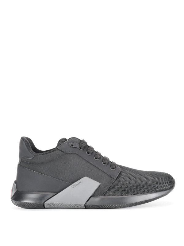 Prada Linea Rossa: Sneaker - Sneaker - Schwarz