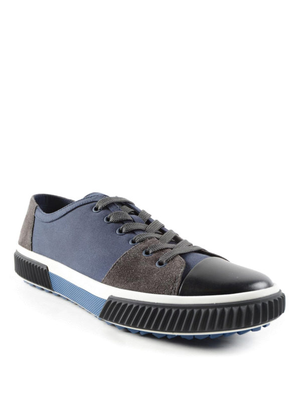sneaker fur herren blau von prada linea rossa sneaker. Black Bedroom Furniture Sets. Home Design Ideas
