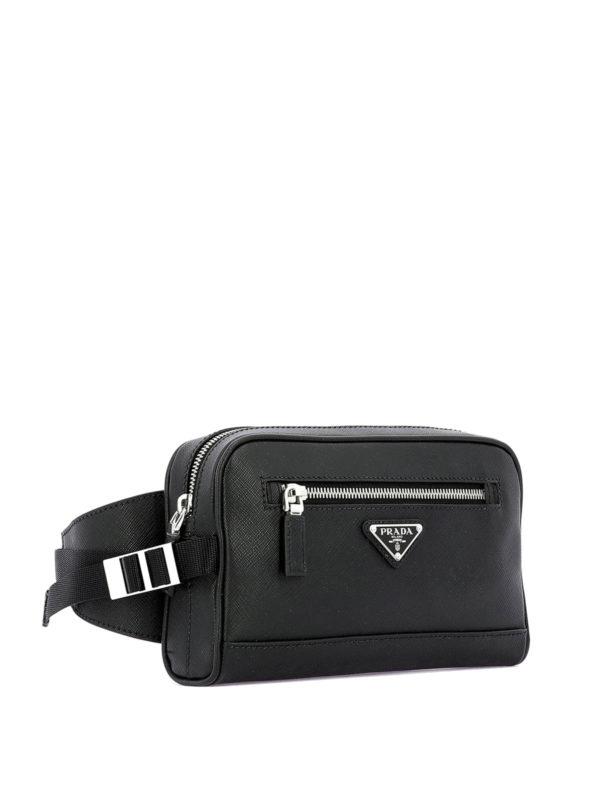 4dfc5a8eb2a9 Prada - Black saffiano leather belt bag - belt bags - 2VL0129Z2F0002