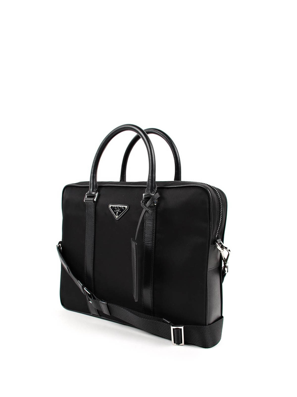 PRADA  laptop bags   briefcases online - Nylon and leather laptop bag 84026a1b06