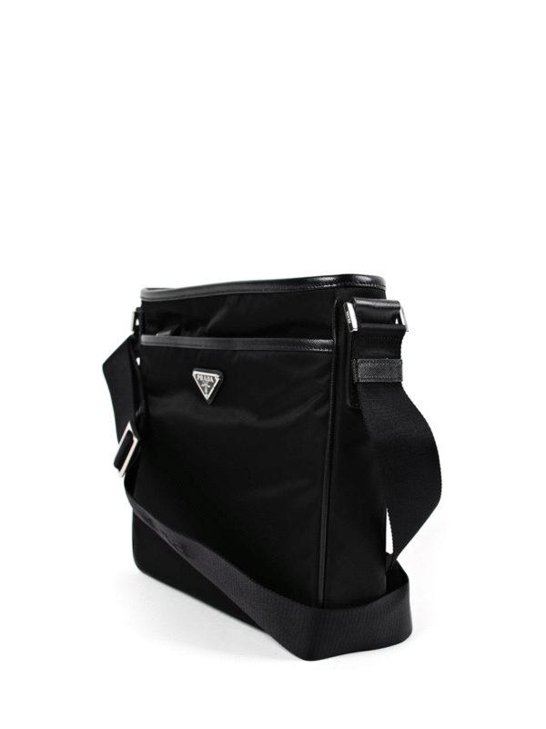 408d44a9787a Prada - Saffiano and nylon messenger bag - shoulder bags - 2VH797064 002