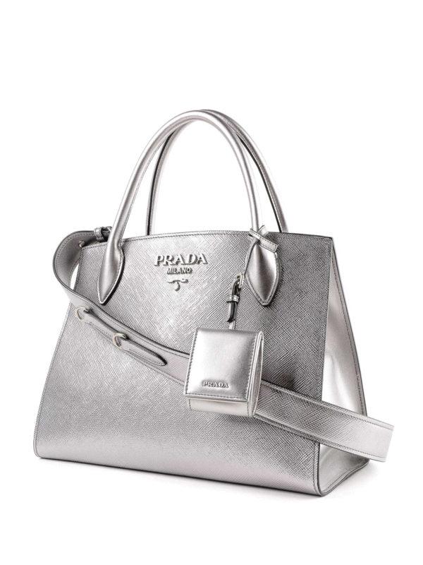 PRADA: Handtaschen online - Shopper - Silber