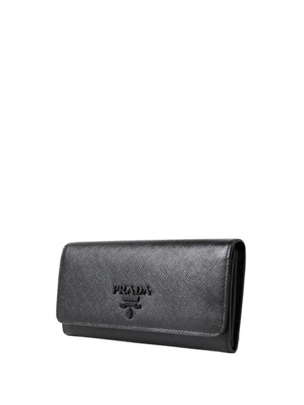 cf7cb103c60dbf PRADA: wallets & purses online - Saffiano leather continental wallet