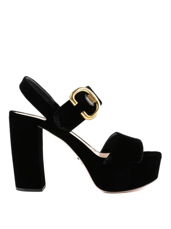 PRADA: Sandalen - Sandalen - Einfarbig