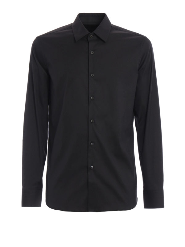 Prada: Hemden - Hemd - Einfarbig