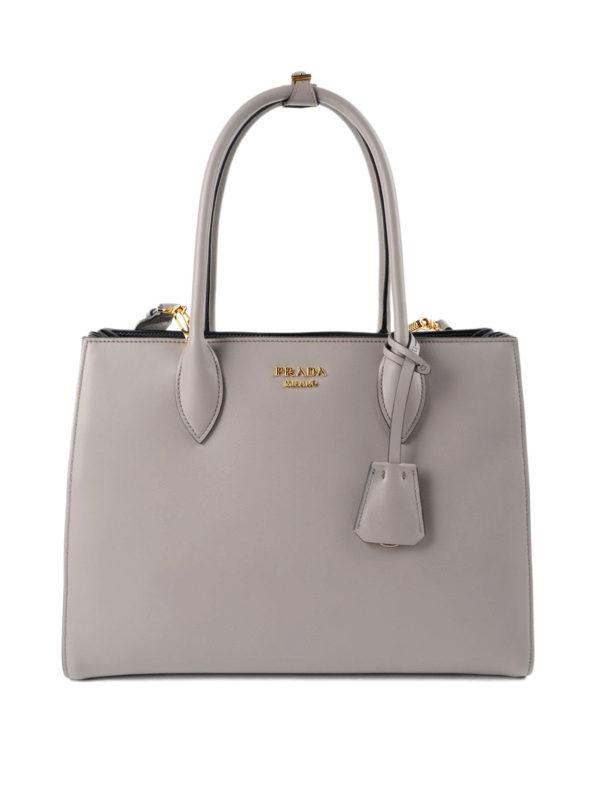 Prada: Handtaschen - Shopper - Beige