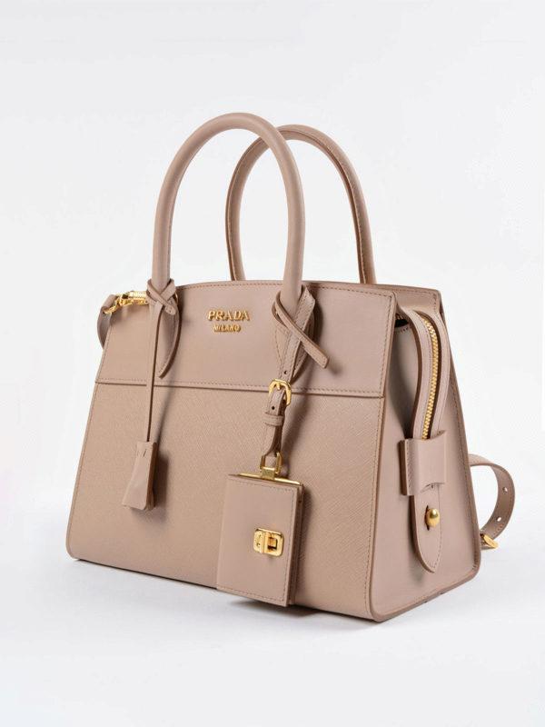Prada: Handtaschen online - Shopper - Dunkelbeige