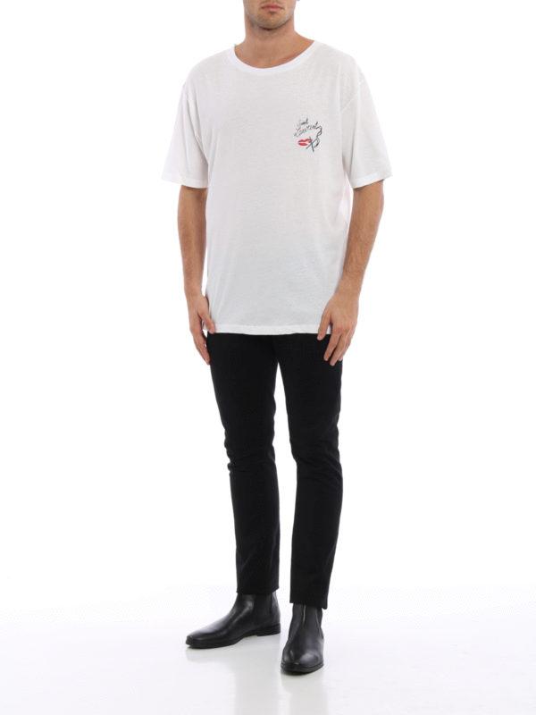 T-Shirt - Gemustert shop online: Saint Laurent