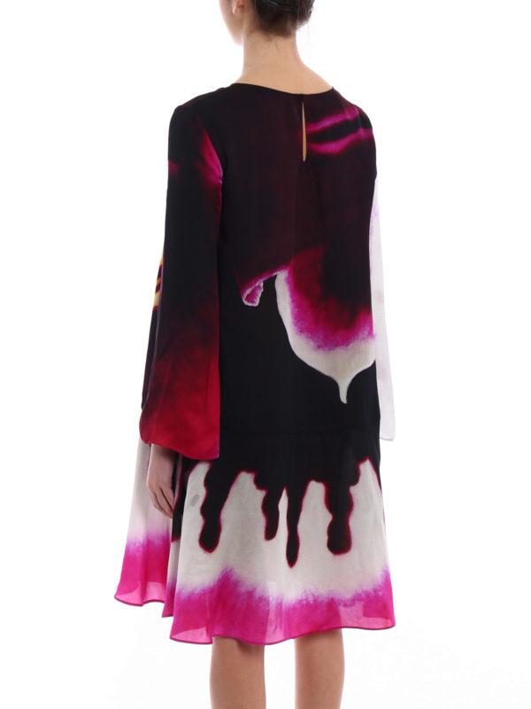 Printed organdie flared dress shop online: MOSCHINO
