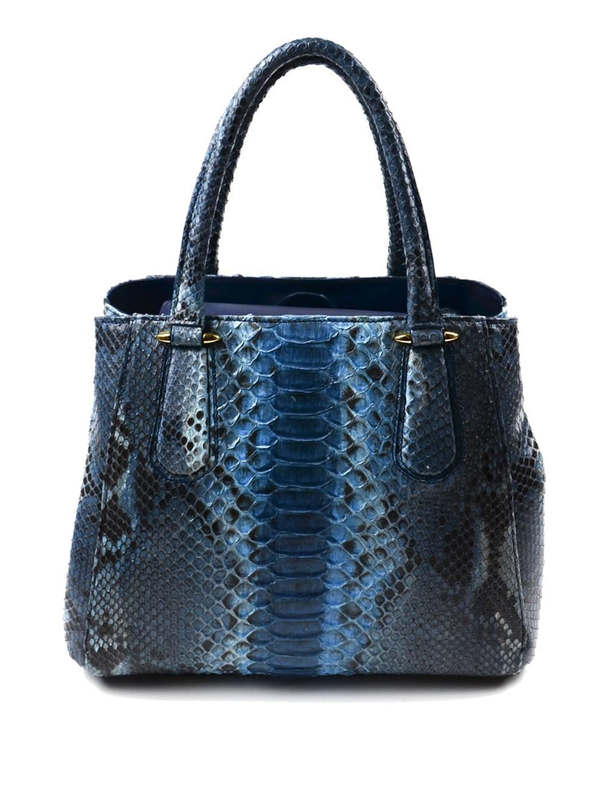 Python leather tote bag shop online: Ghibli