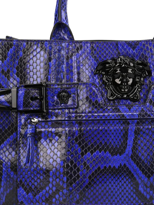 Python Palazzo bag shop online: Versace