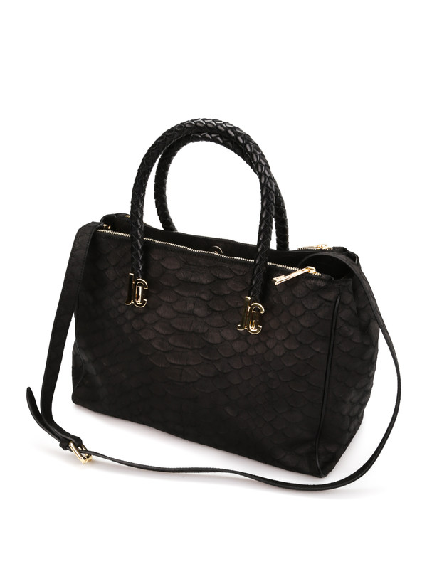Python print leather tote shop online: Roberto Cavalli