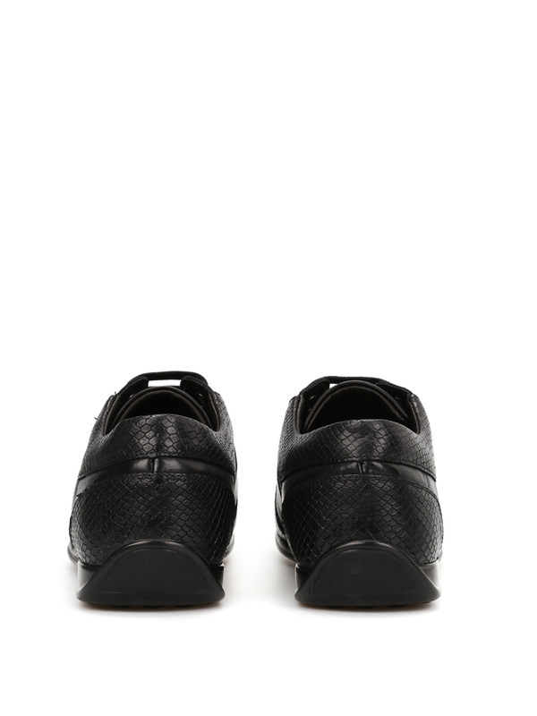 Ledersportschuhe mit Python-Print shop online: Versace Collection