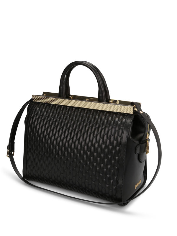 Quilted leather tote shop online: ROBERTO CAVALLI