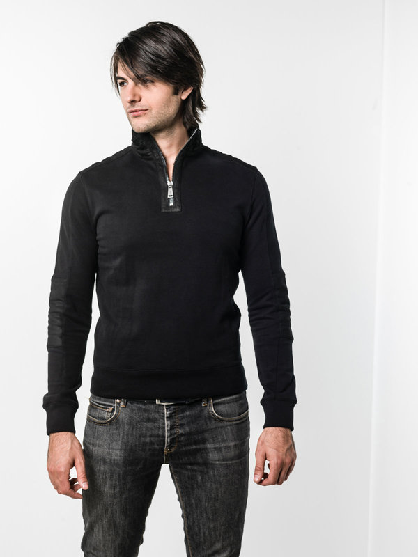 Ralph Lauren Black Label: Sweatshirts & Sweaters online - Sweatshirt with leather details