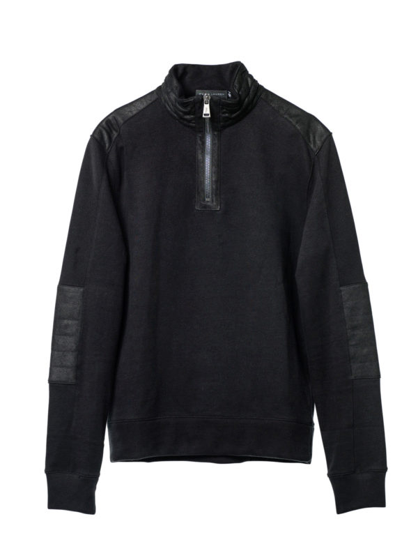 Ralph Lauren Black Label: Sweatshirts & Sweaters - Sweatshirt with leather details
