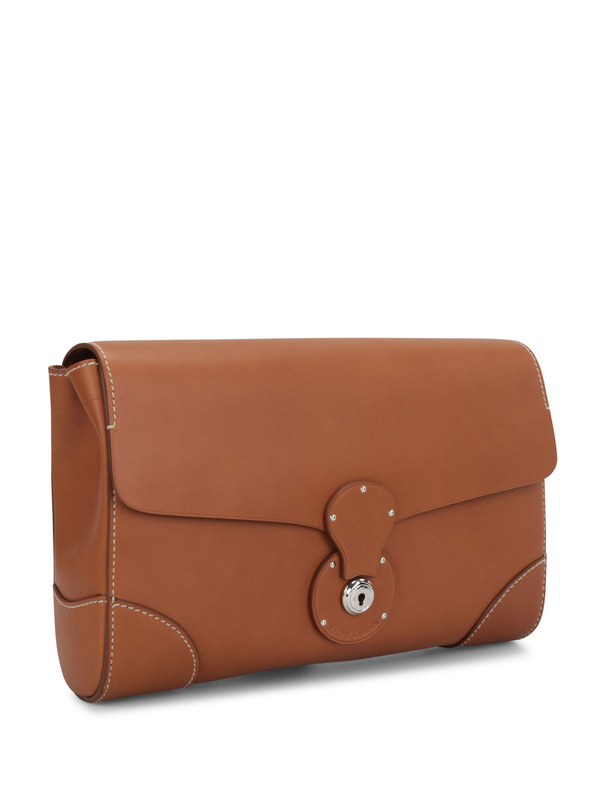 Ralph Lauren: clutches online - Saddle Calfskin Ricky Clutch