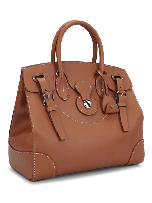RALPH LAUREN: totes bags online - Soft Ricky 33 leather bag