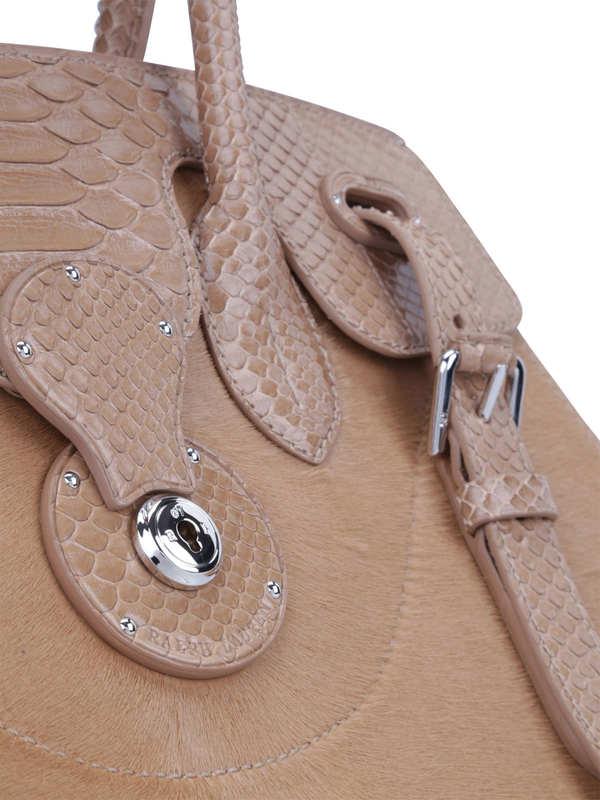 iKRIX RALPH LAUREN: Soft Ricky 33 python leather bag