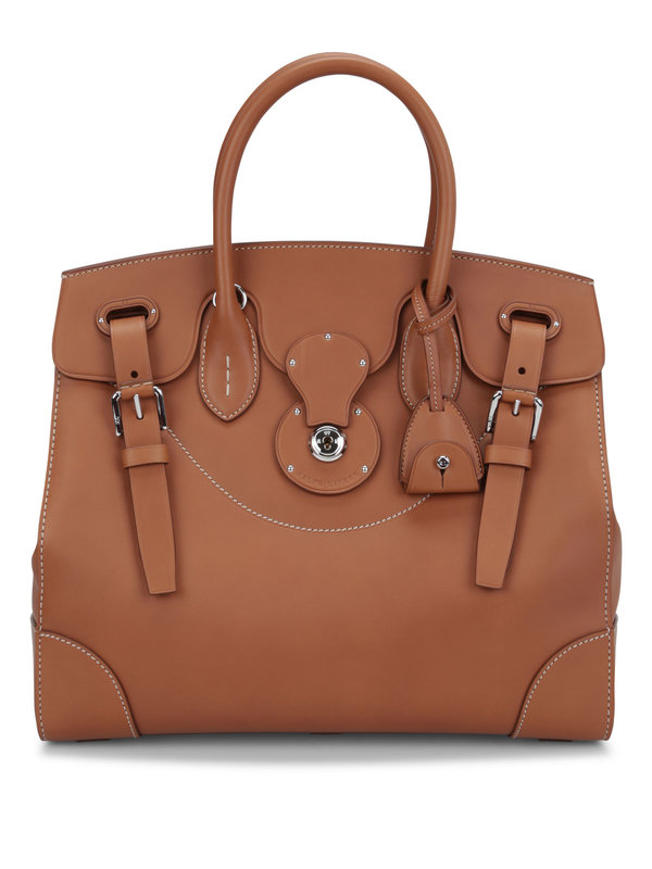 RALPH LAUREN: totes bags - Soft Ricky 33 leather bag