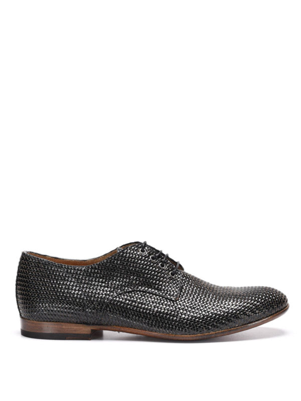 woven leather shoes by raparo lace ups shoes ikrix