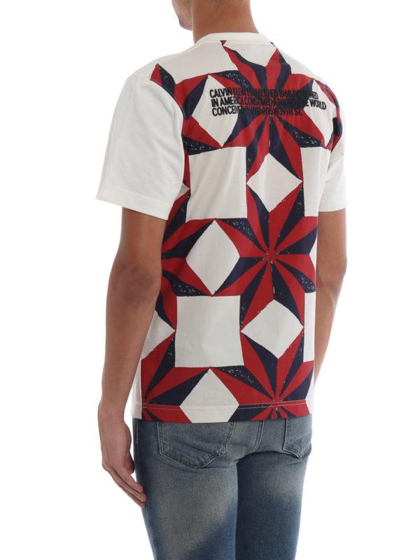 T-Shirt - Weiß shop online: CALVIN KLEIN