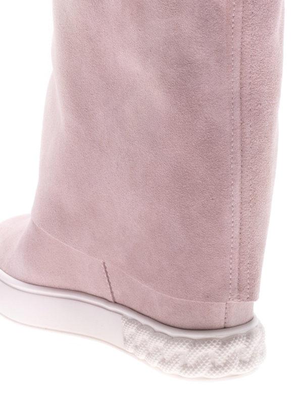 Reversible pink suede wedge boots shop online: Casadei