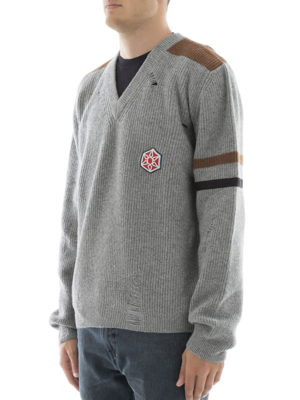 V-Pullover - Grau shop online: Lanvin