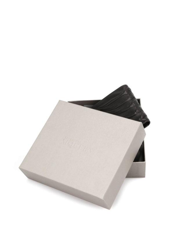 Ribcage bifold wallet shop online: ALEXANDER MCQUEEN