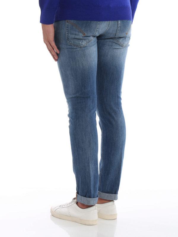 Skinny Jeans - Helles Jeansblau shop online: DONDUP