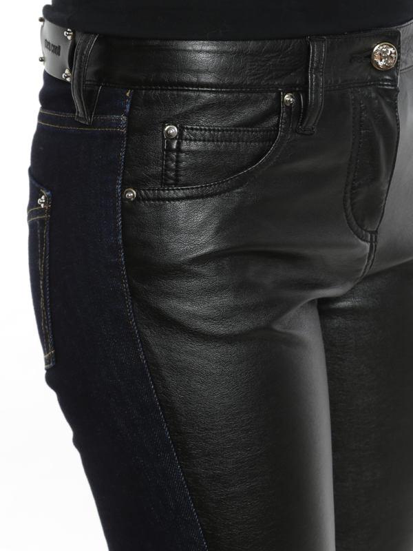 Roberto Cavalli buy online Leather front jeans