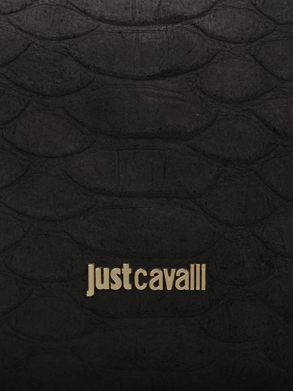Roberto Cavalli buy online Python print leather pouch