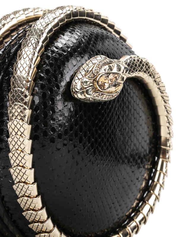 Roberto Cavalli buy online Snake Sphere clutch