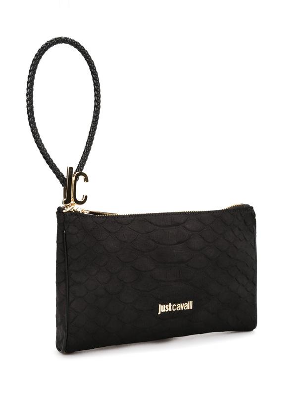 ROBERTO CAVALLI: clutches online - Python print leather pouch