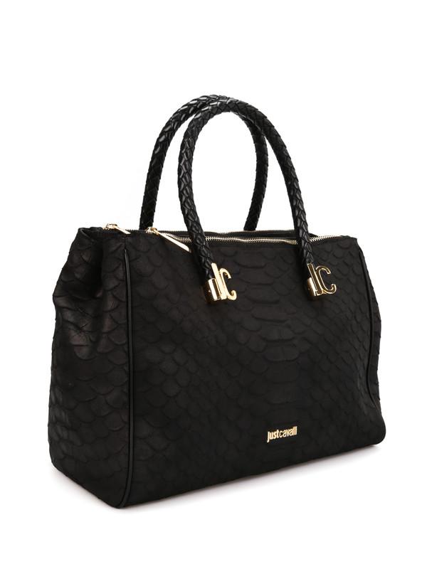 ROBERTO CAVALLI: totes bags online - Python print leather tote