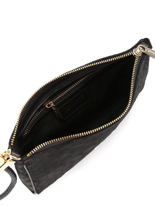 iKRIX ROBERTO CAVALLI: Python print leather pouch
