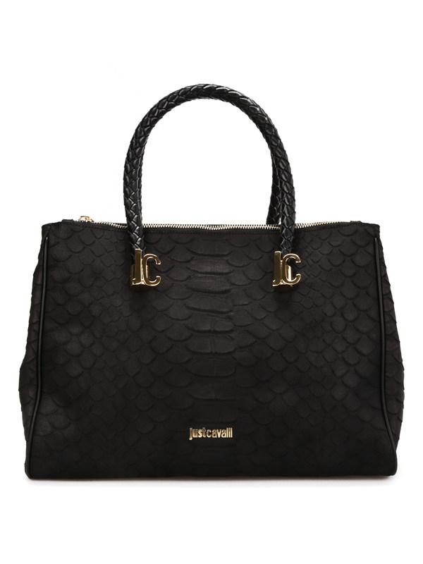 Roberto Cavalli: Handtaschen - Python print leather tote