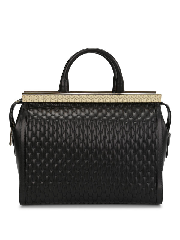 ROBERTO CAVALLI: totes bags - Quilted leather tote