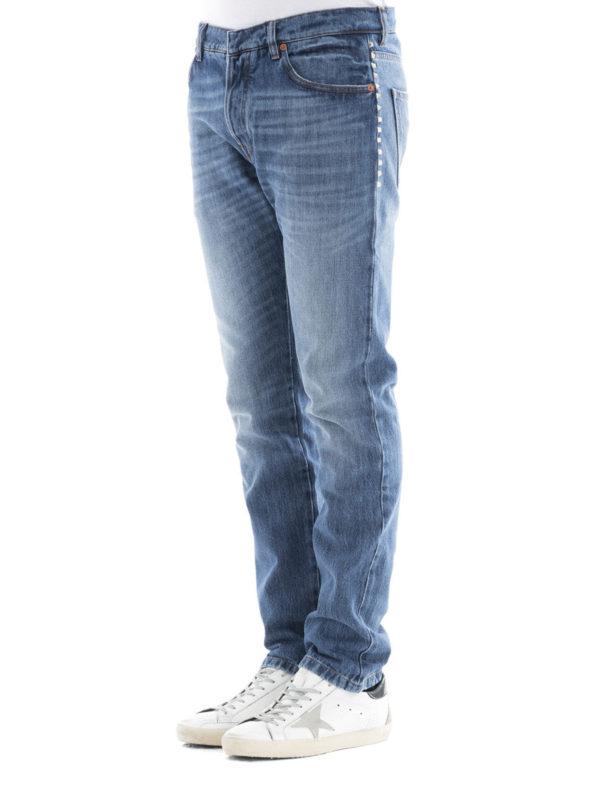 Straight Leg Jeans - Light Wash shop online: Valentino