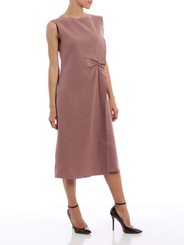 Knielanges Kleid - Einfarbig shop online: Bottega Veneta
